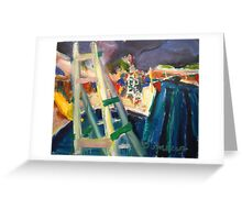 Life Guard Stand Greeting Card
