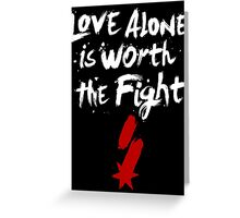 Love Alone - SF Tee - White Greeting Card