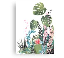 Tropical composition Canvas Print