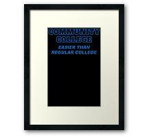 Community College Mens Womens Hoodie / T-Shirt Framed Print