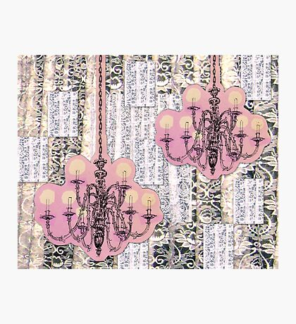 Chandeliers and Lace Photographic Print