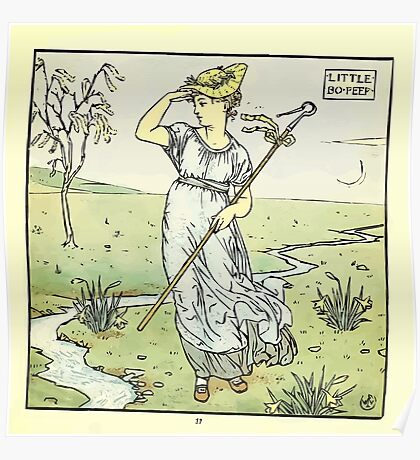 The Baby's Opera - A Book of Old Rhymes With New Dresses - by Walter Crane - 1900-41 Little Bo Peep Plate Poster