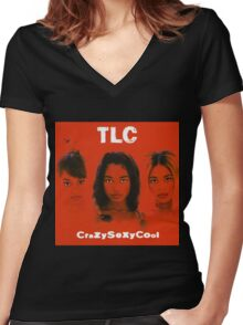 TLC-Crazy Sexy Cool Women's Fitted V-Neck T-Shirt