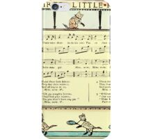 The Baby's Boquet - A Fresh Bunch of Old Rhymes and Tunes - by Walter Crane - 1900-50 The Three Little Kittens iPhone Case/Skin