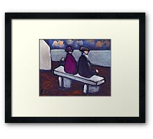 A fine view Framed Print