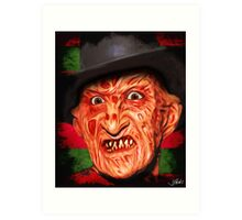 Horror Icons: Freddy Krueger - A Nightmare On Elm Street Art Print