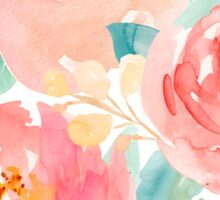 Peonies Watercolor Bouquet Sticker