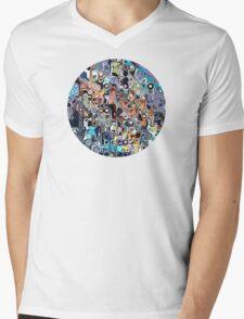 Abstract Digital Doodle 2 Mens V-Neck T-Shirt