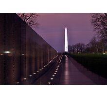 The Vietnam Memorial Photographic Print