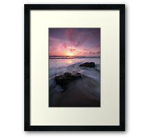 Dusk at the Bay  Framed Print