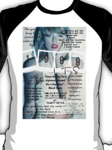 Taylor Swift 1989 Lyrics T-Shirt