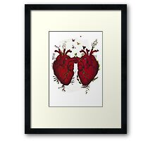 two hearts beating as one Framed Print
