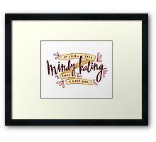 I Love Mindy Kaling Framed Print