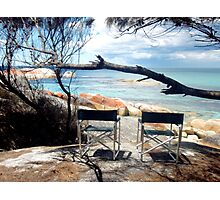 Chairs with ocean view Photographic Print