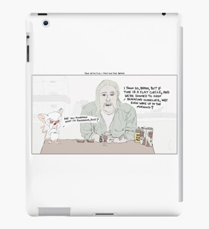 True Detective + Pinky and the Brain iPad Case/Skin