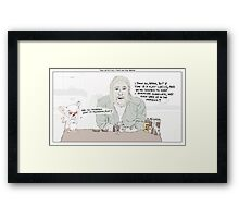 True Detective + Pinky and the Brain Framed Print