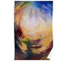 Angel wings gold Poster