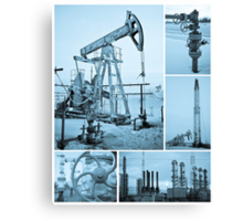 Oil industry. Canvas Print