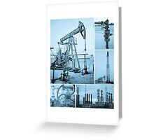 Oil industry. Greeting Card