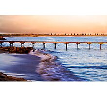 Sunset at Beachport Jetty in landscape Photographic Print