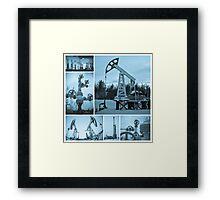 Oil industry. Oil extraction. Framed Print