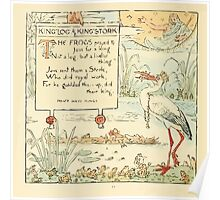 The Baby's Own Aesop by Walter Crane 1908-16 King Log and King Stork Poster