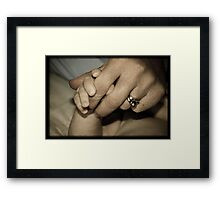 'Mother & son' Framed Print