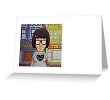 Hipster Tina Belcher Greeting Card