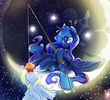 iPhone and Galaxy Case: Moonfishing by pomnraCraftz