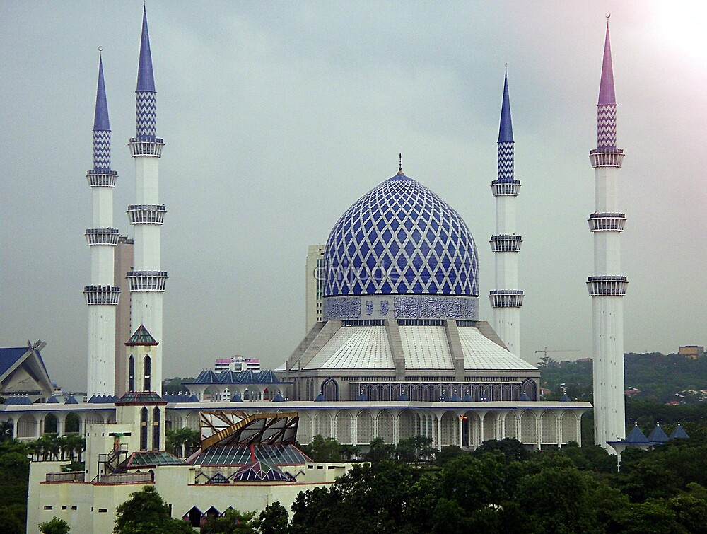 Mosque from my window - Kuala Lumpur by chijude