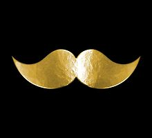 Faux Gold Brass Metal Mustache 5 by TigerLynx