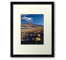 Lagunas Miñiques y Miscanti - Chile Framed Print