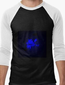 Mysterious Blue Irish Abstract Design Men's Baseball ¾ T-Shirt