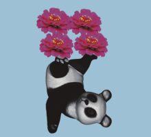 Juggling Panda Bear Funny T Shirt Kids Clothes