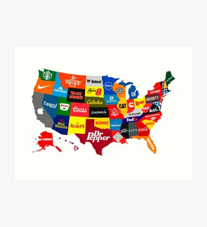 The Corporate States of America Art Print