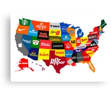 The Corporate States of America Canvas Print