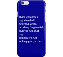 Read, Write, or Reblog Bagginshield iPhone Case/Skin