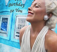 """Fantasy in White """"Happy Birthday"""" ~ Greeting Cards and More by Susan Werby"""
