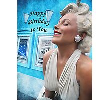 """Fantasy in White """"Happy Birthday"""" ~ Greeting Cards and More Photographic Print"""