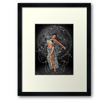 Diana .. moon goddess Framed Print