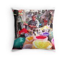 ' Colours of Holi ' Throw Pillow