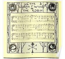 The Baby's Boquet - A Fresh Bunch of Old Rhymes and Tunes - by Walter Crane - 1900-36 The North Wind Robin Poster
