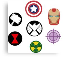 Avengers pins Canvas Print