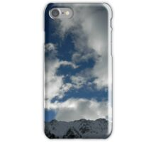 Snowy mountain and sky iPhone Case/Skin