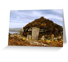 Peat Cutters Shieling Greeting Card
