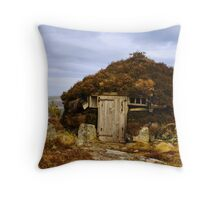 Peat Cutters Shieling Throw Pillow