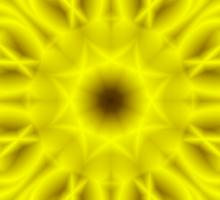 """""""Spirit of India: Fleur-Sun - Flower"""" in golden yellow Sticker"""