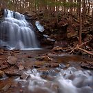 Winter Ice Remains at Dutchman Falls by Gene Walls