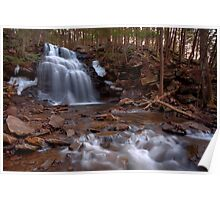 Winter Ice Remains at Dutchman Falls Poster
