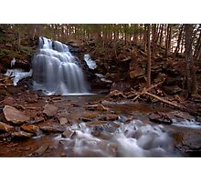Winter Ice Remains at Dutchman Falls Photographic Print